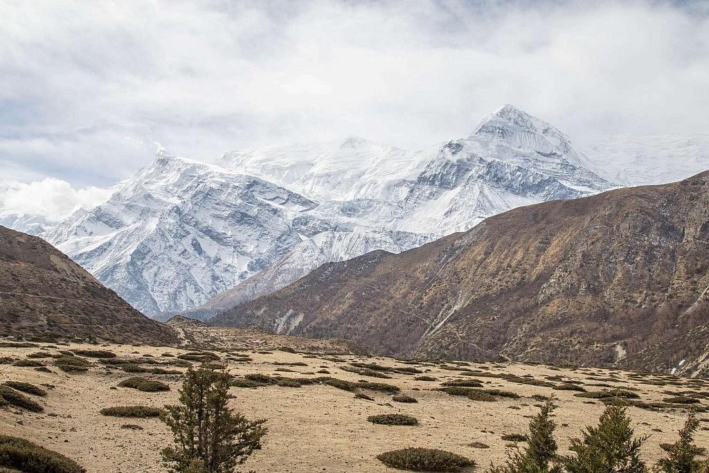 Sicht auf Annapurna III und Gangapurna