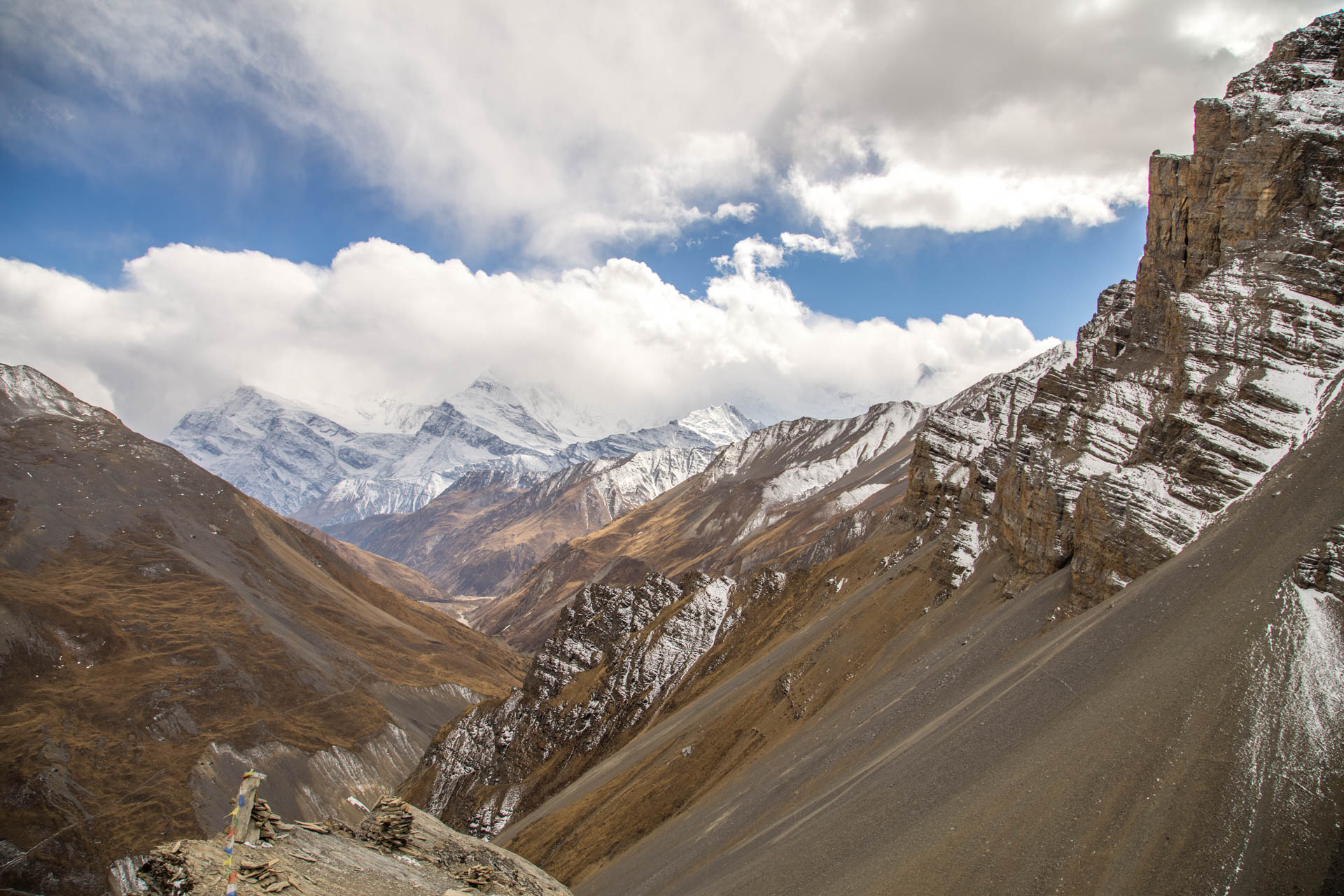 endlose berglandschaft
