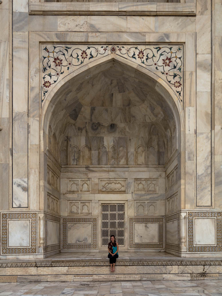Cori at the Taj Mahal