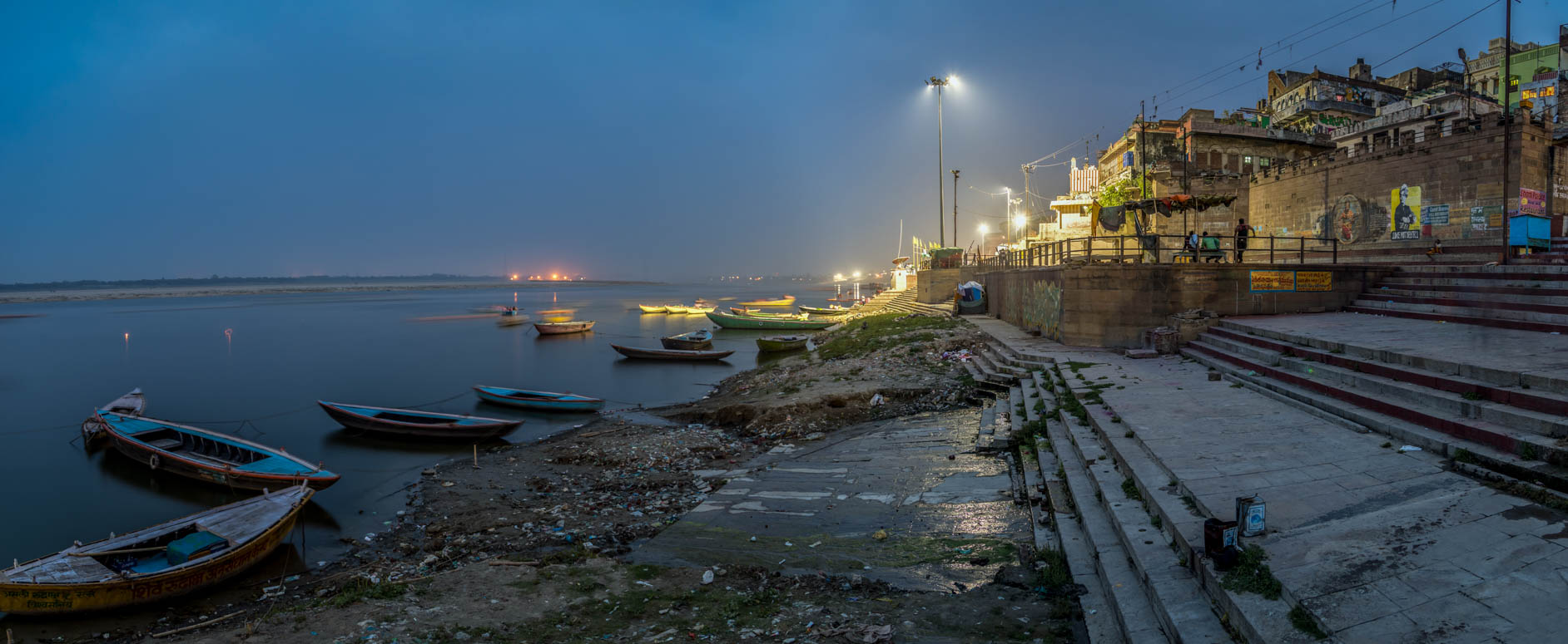 Nighttime at the Ghats