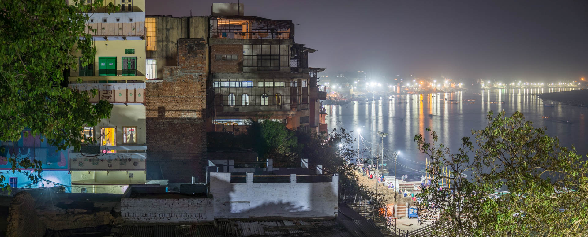 Night atmopshere in Varanasi