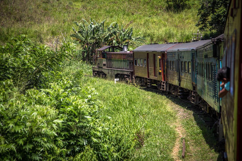 Sri Lankas Eisenbahn - Linkskurve