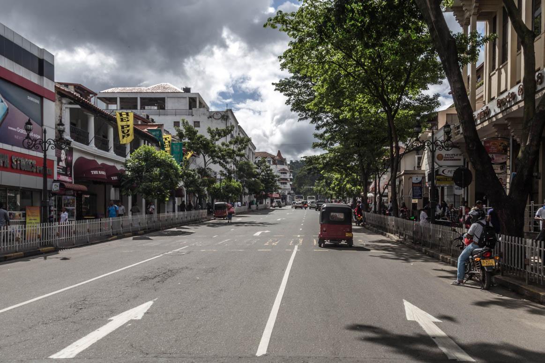 Hauptstraße in Kandy
