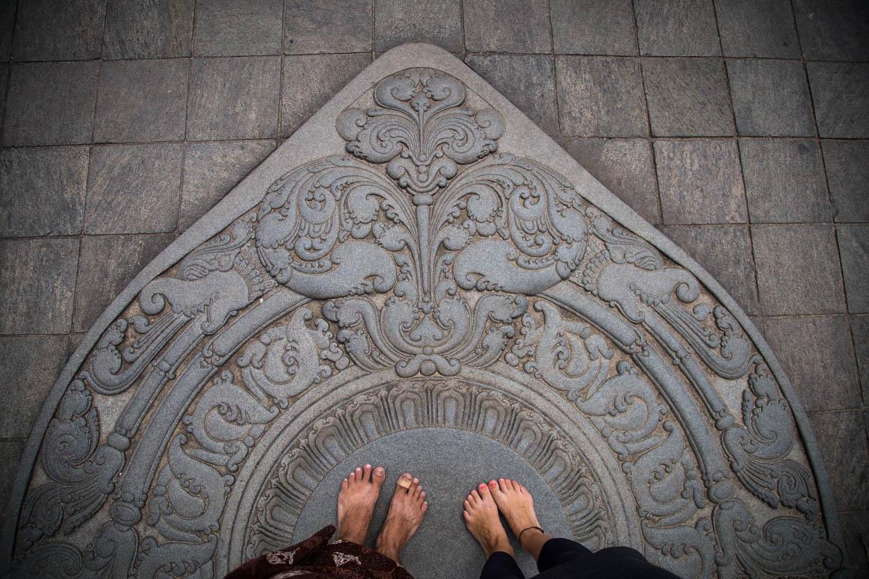 Mondstein Portal im Zahntempel