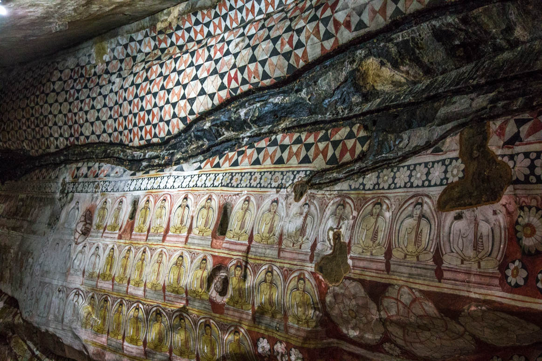 Dambulla Steinmalereien