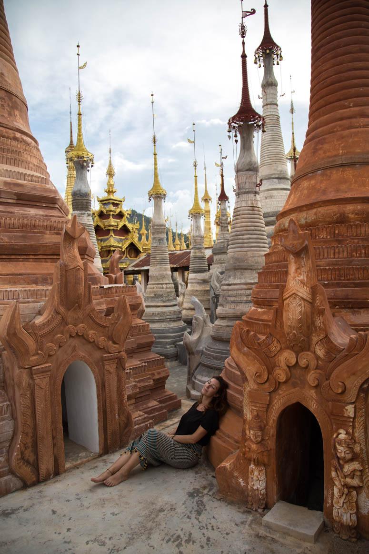 Eins mit der Shwe-Oo-Min Pagode