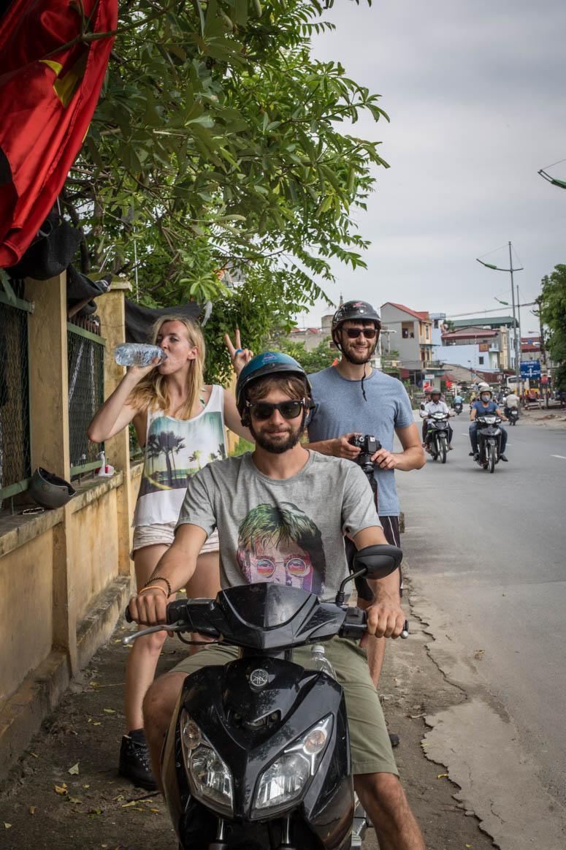 Mopedtour zu Viert