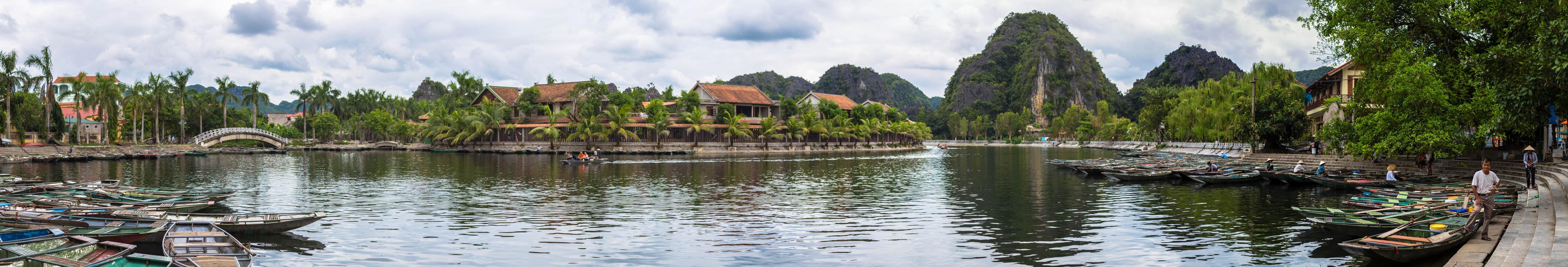 der Hafen in Tuc Coc