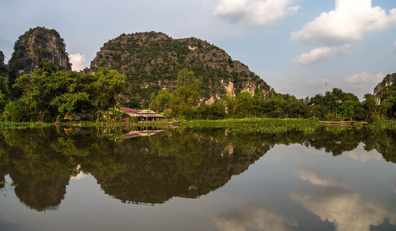 Spiegellandschaft in Ninh Binh
