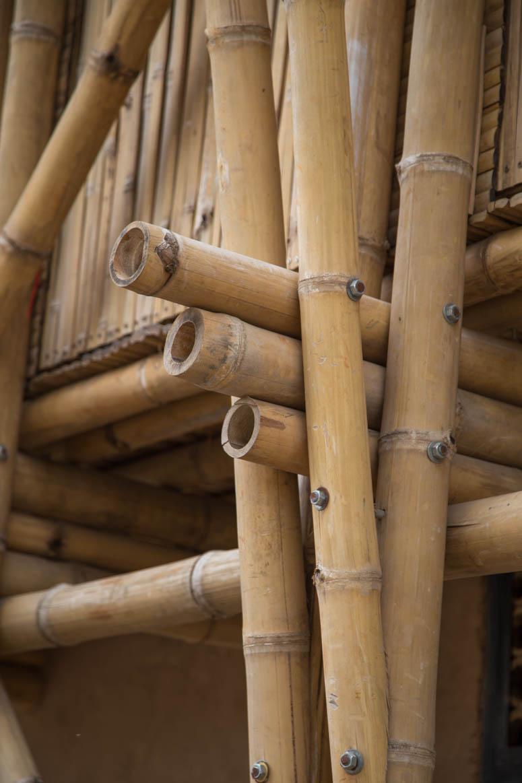 Bamboocenter Trägerstruktur