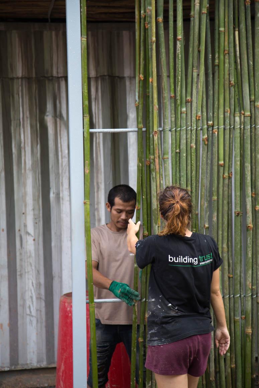 finishing the new bamboo frame