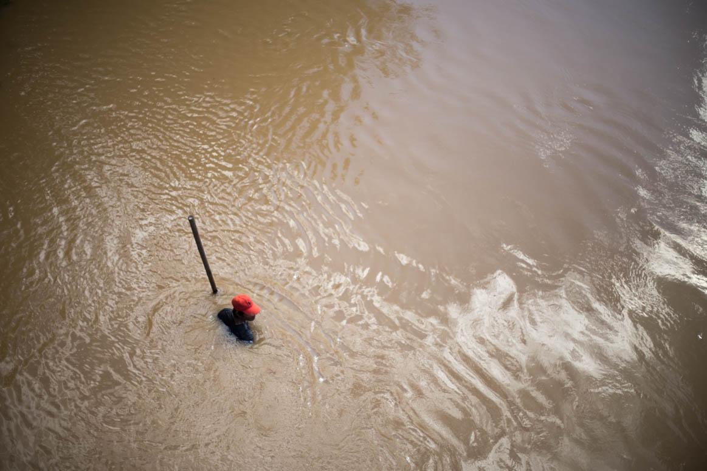 Fischer im Fluss