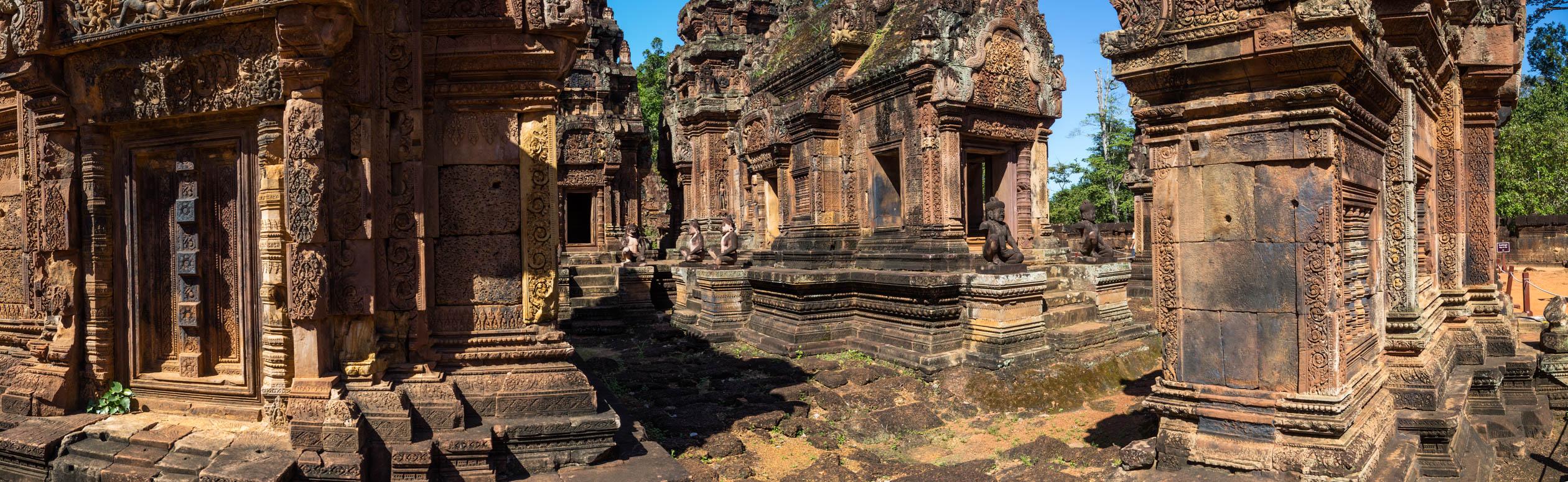 das Innere des Banteay Srei