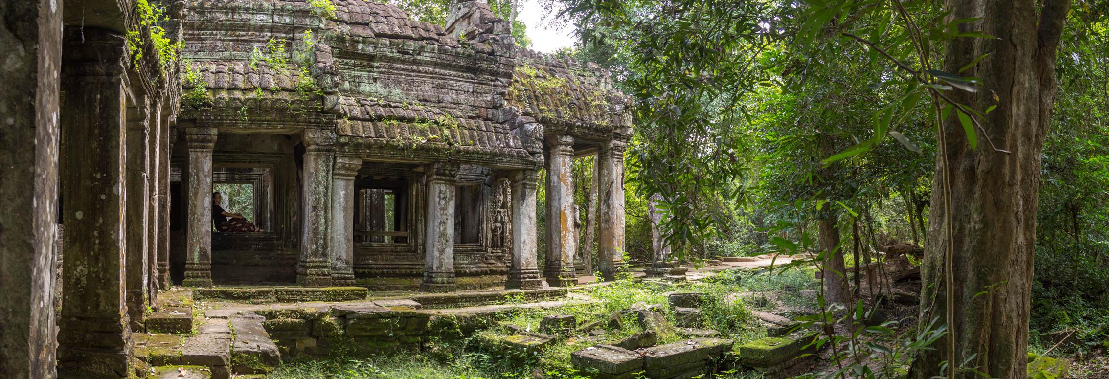 Der Ausblick aus dem Tempel