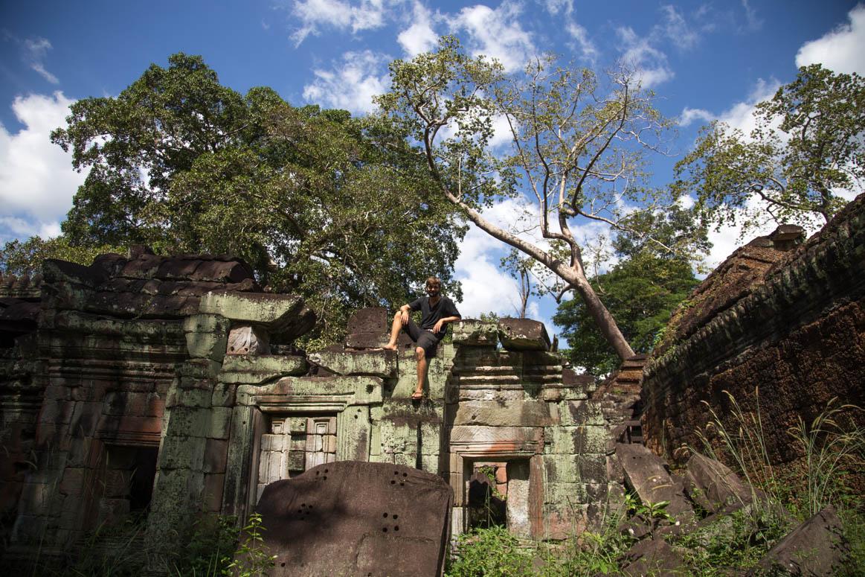 Klettern auf Ruinenlandschaften