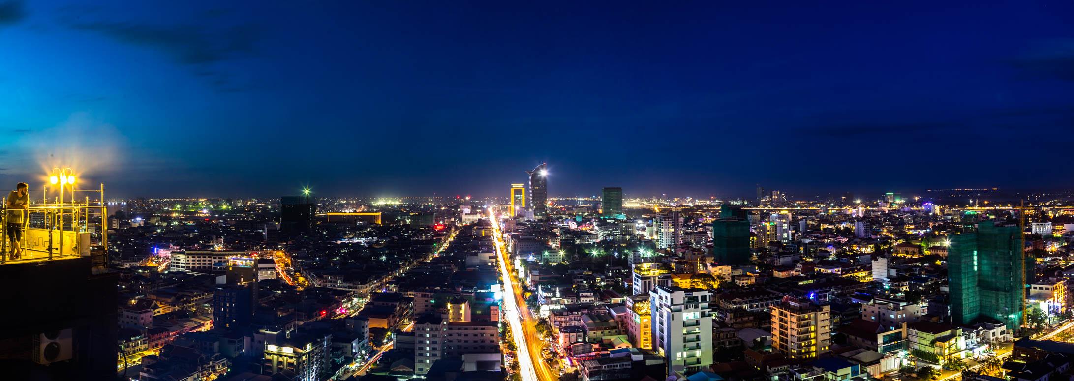 die Stadt bei Nacht