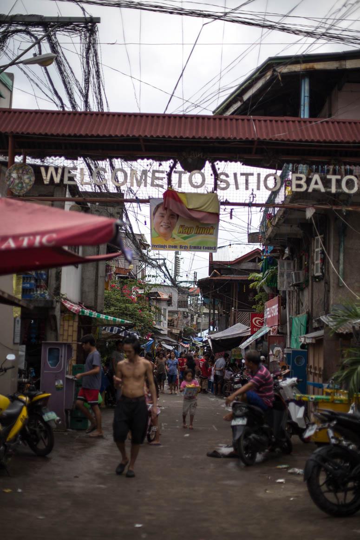 Viertel am Cebu Hafen