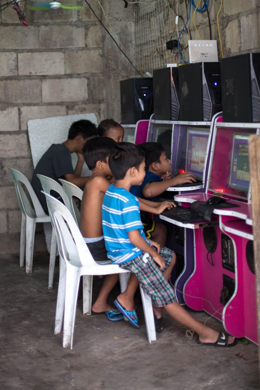 Virtuelle Straßencafe