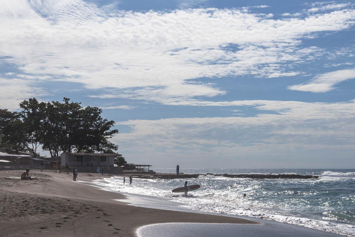 erste Surfversuche
