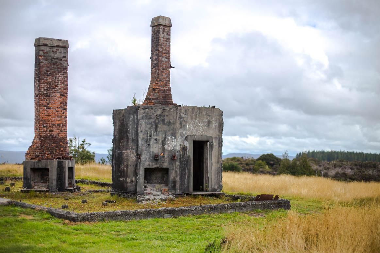 Überreste einer Goldgräberstadt in Waiuta