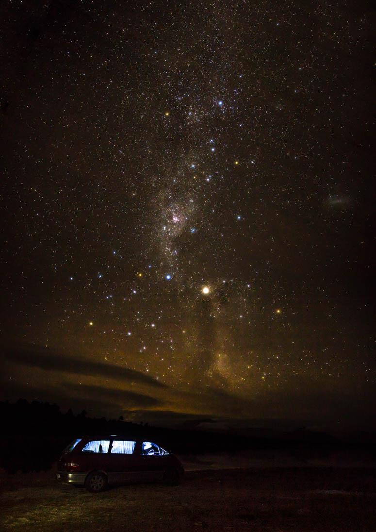 der Nachthimmel erwacht