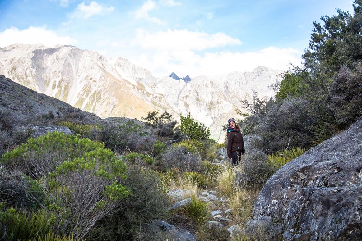 Unterwegs zum Tasman Gletscher