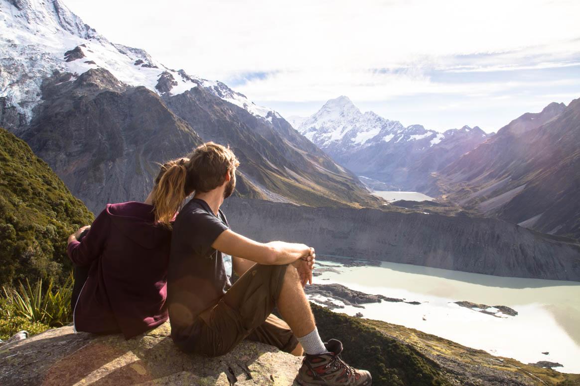 Blickkontakt mit dem Mount Cook