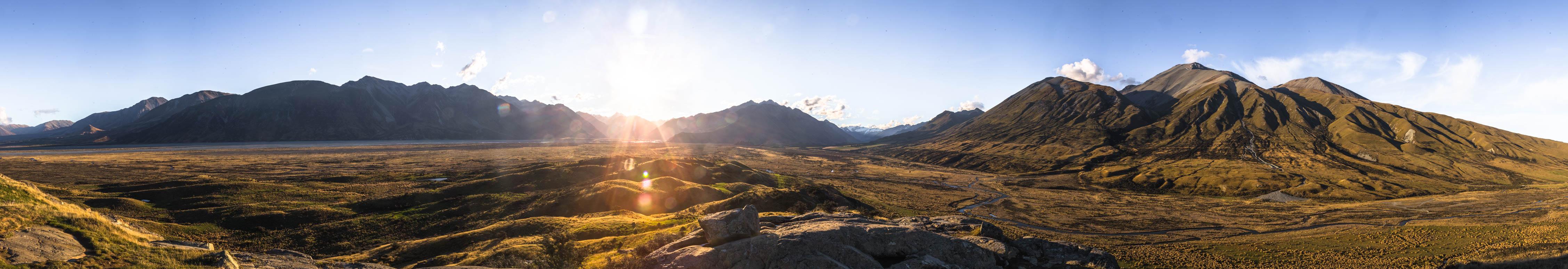 Der Sonnenuntergang im Erewhon Tal
