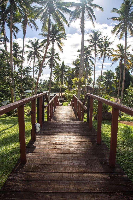 Brücke durch den Garten